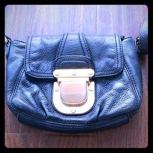 Used Michael Kors black pebble crossbody purse